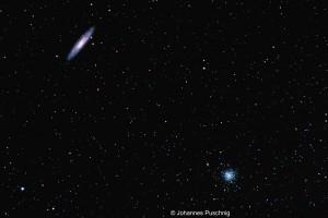 NGC 253 (Sculptor Galaxy) and NGC 288