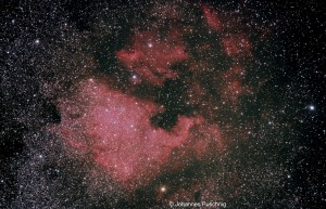 NGC7000 (North America Nebula) and IC5070 (Pelican Nebula)